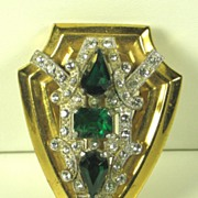 McClelland Barclay Green Glass Fur Clip