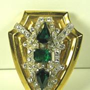 McClelland Barclay Green Glass Fur Clip