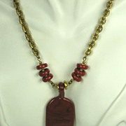Miriam Haskell Red Stone Necklace