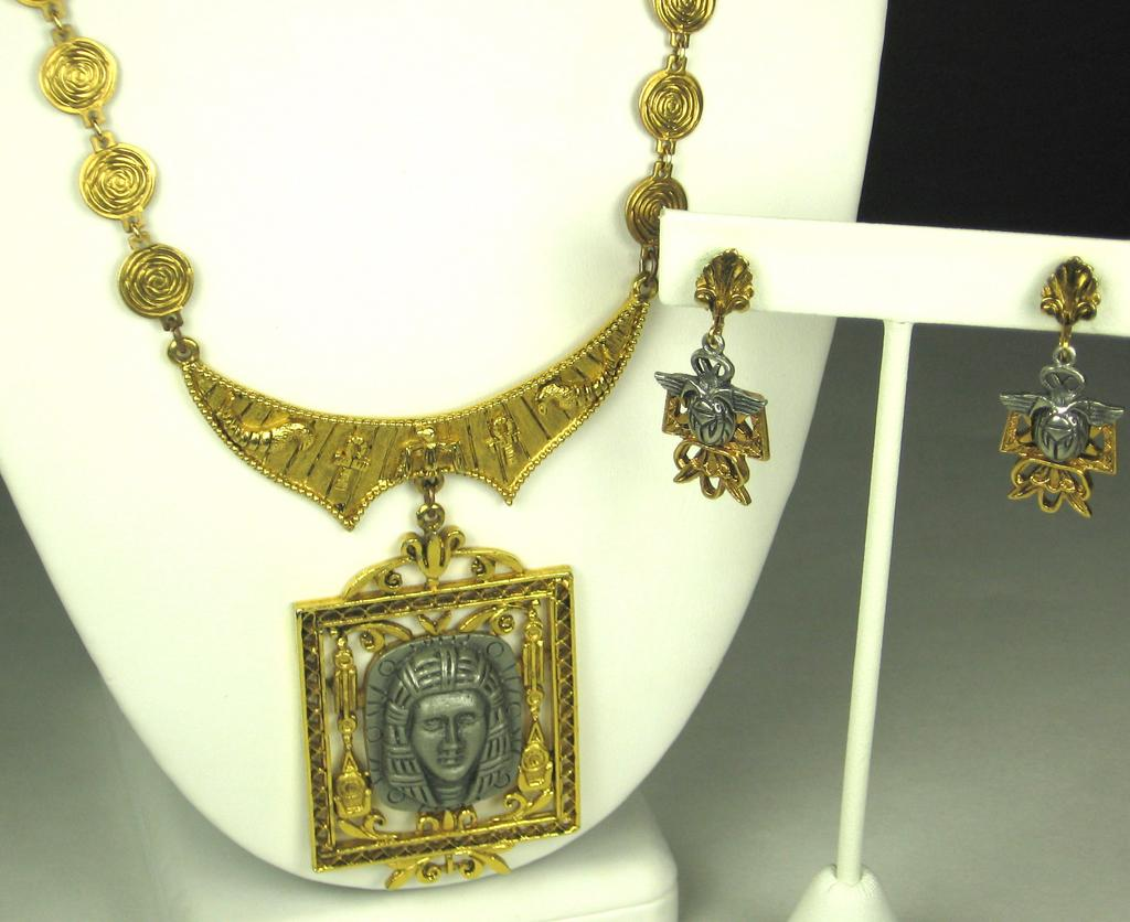Art Co. Egyptian Revival Necklace and Earrings Set