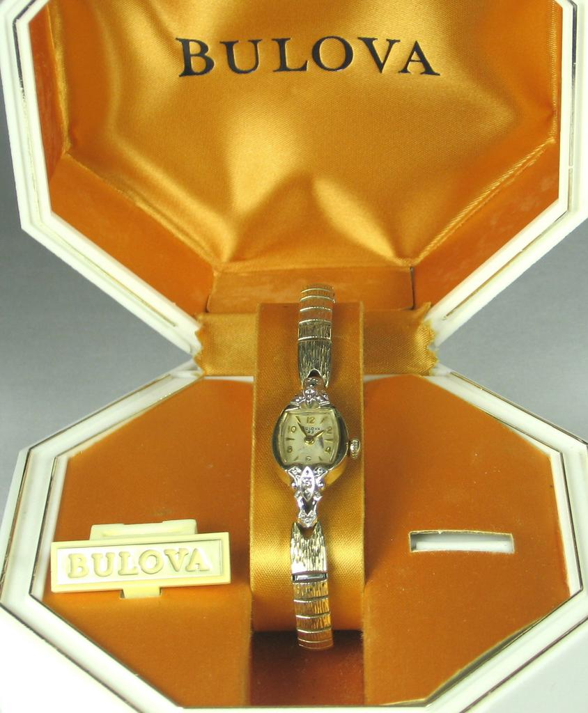 Vintage 10kt Gold and Diamond Bulova Watch