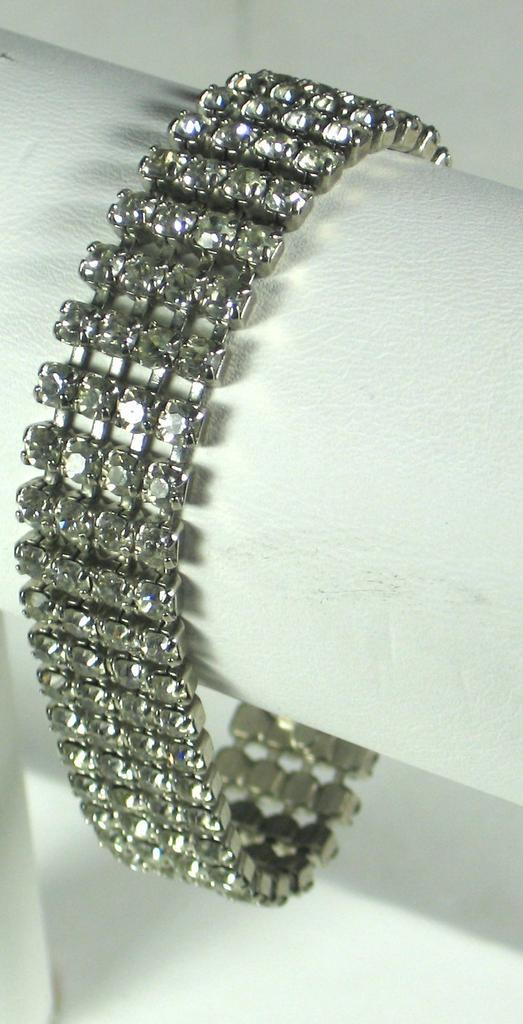 Vintage Four Row Rhinestone Bracelet