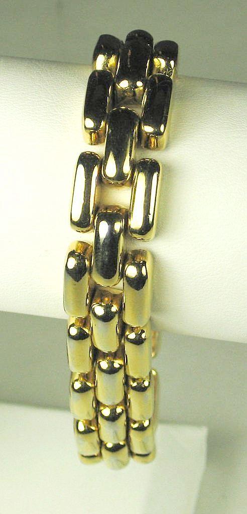 Vintage Ciner Gold Tone Metal Bracelet