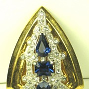 Vintage McClelland Barclay Sapphire Crystal Dress Clip