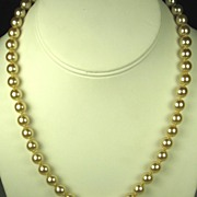 Kenneth Jay Lane Hand Tied Imitation Pearl Necklace