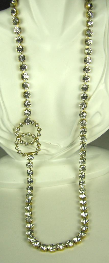 Vintage Chanel Logo Clasp Belt and Necklace