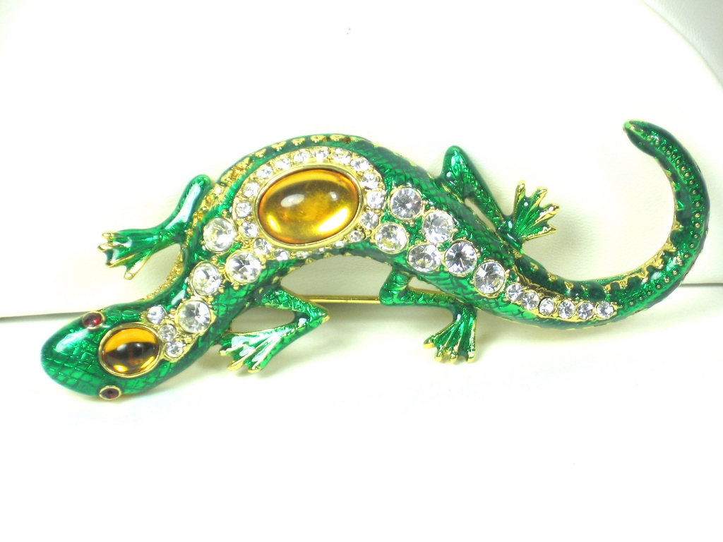 Kenneth Jay Lane Jeweled Salamander Pin