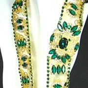 Kenneth Jay Lane 1960s Princess Grace Collection Gemstone Jeweled Belt