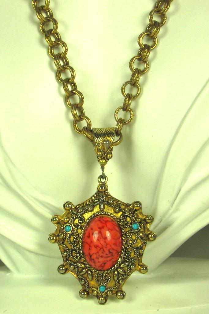 Hattie Carnegie Jewel Medallion Necklace
