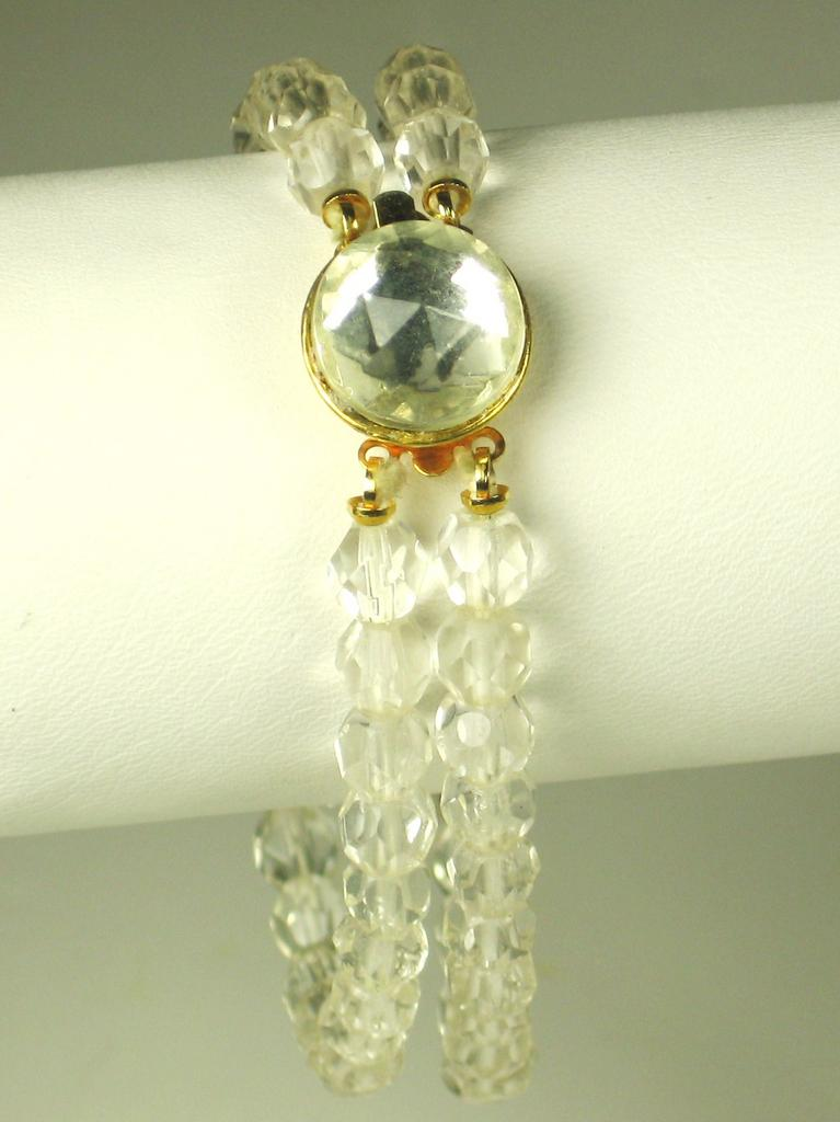 Two Strand Faceted Crystal Bead Bracelet