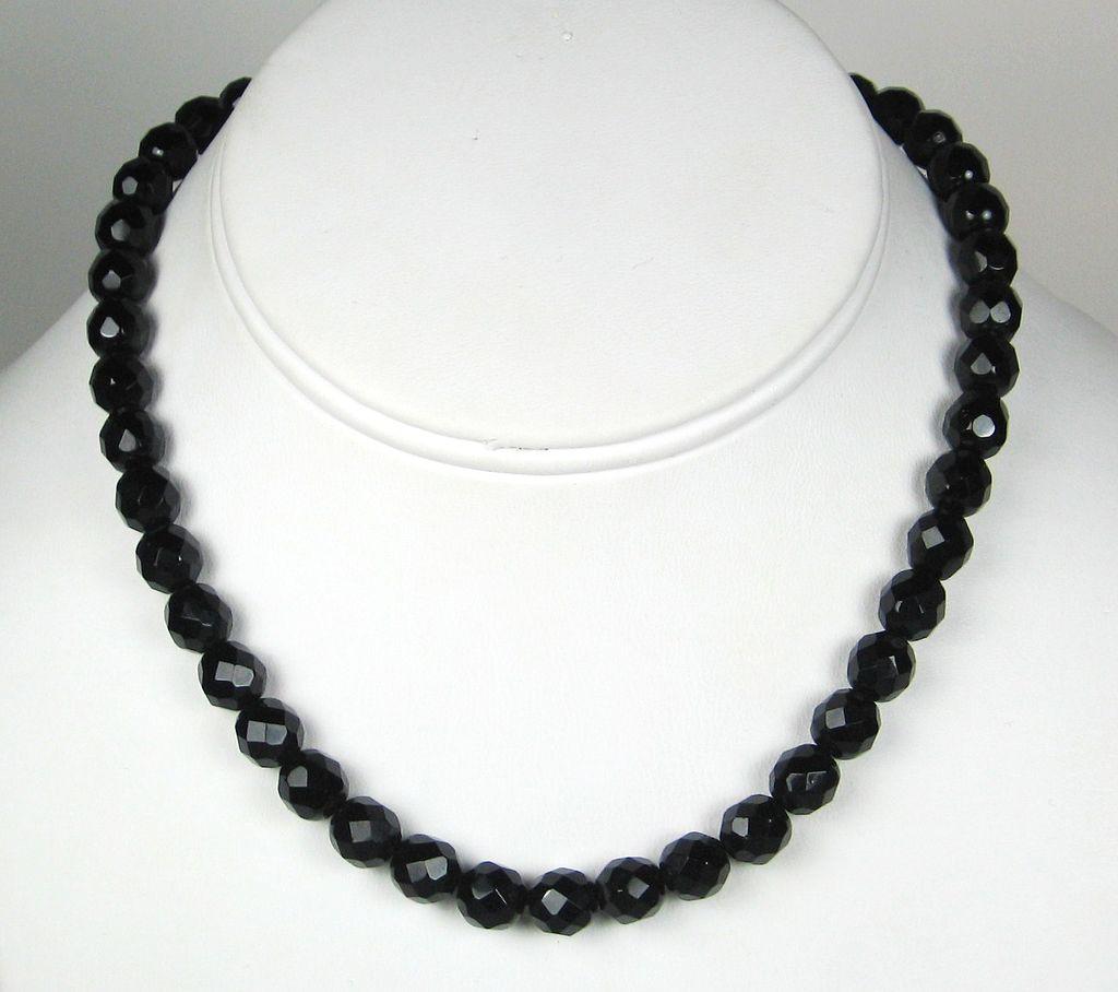 Vintage Black Crystal Necklace - Teen Creampie Xxx-5328