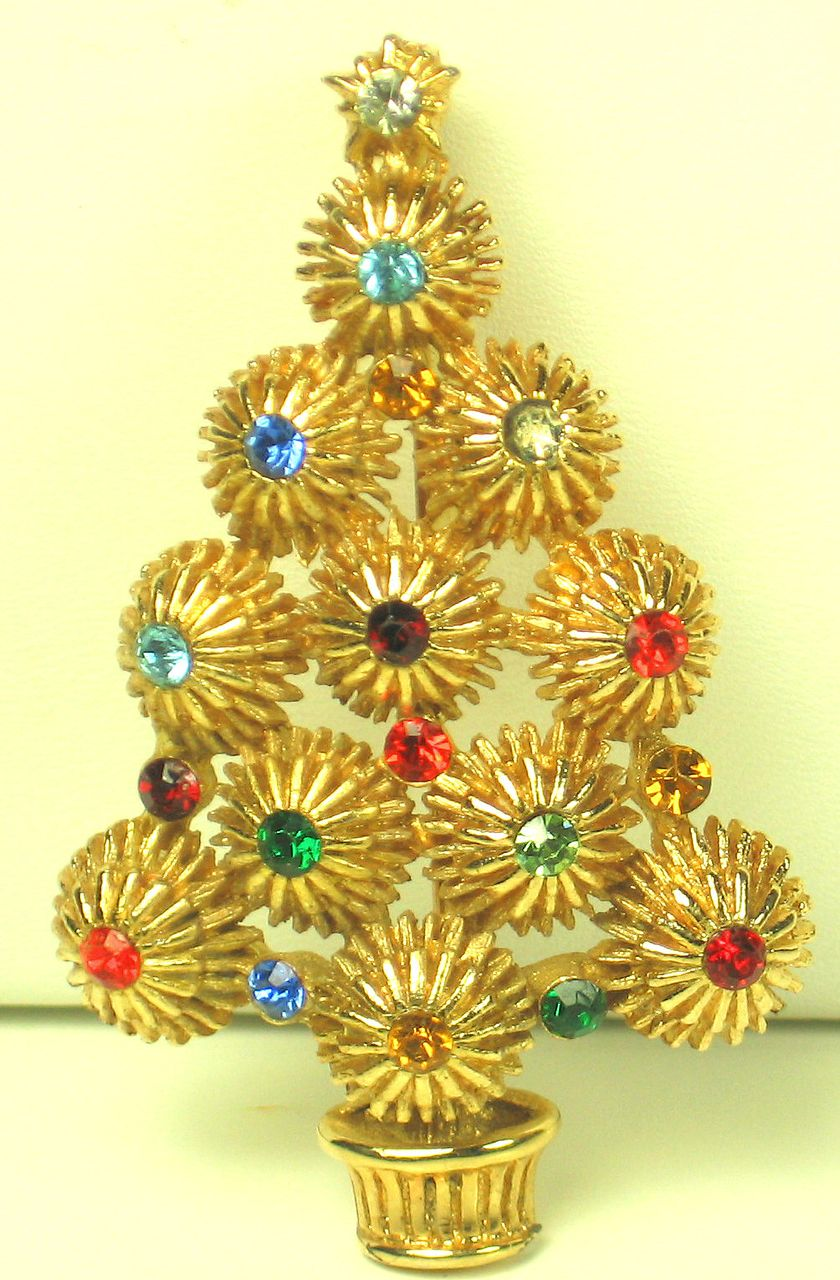 Item ID: 1948- Hedy Christmas Tree Pin In Shop Backroom
