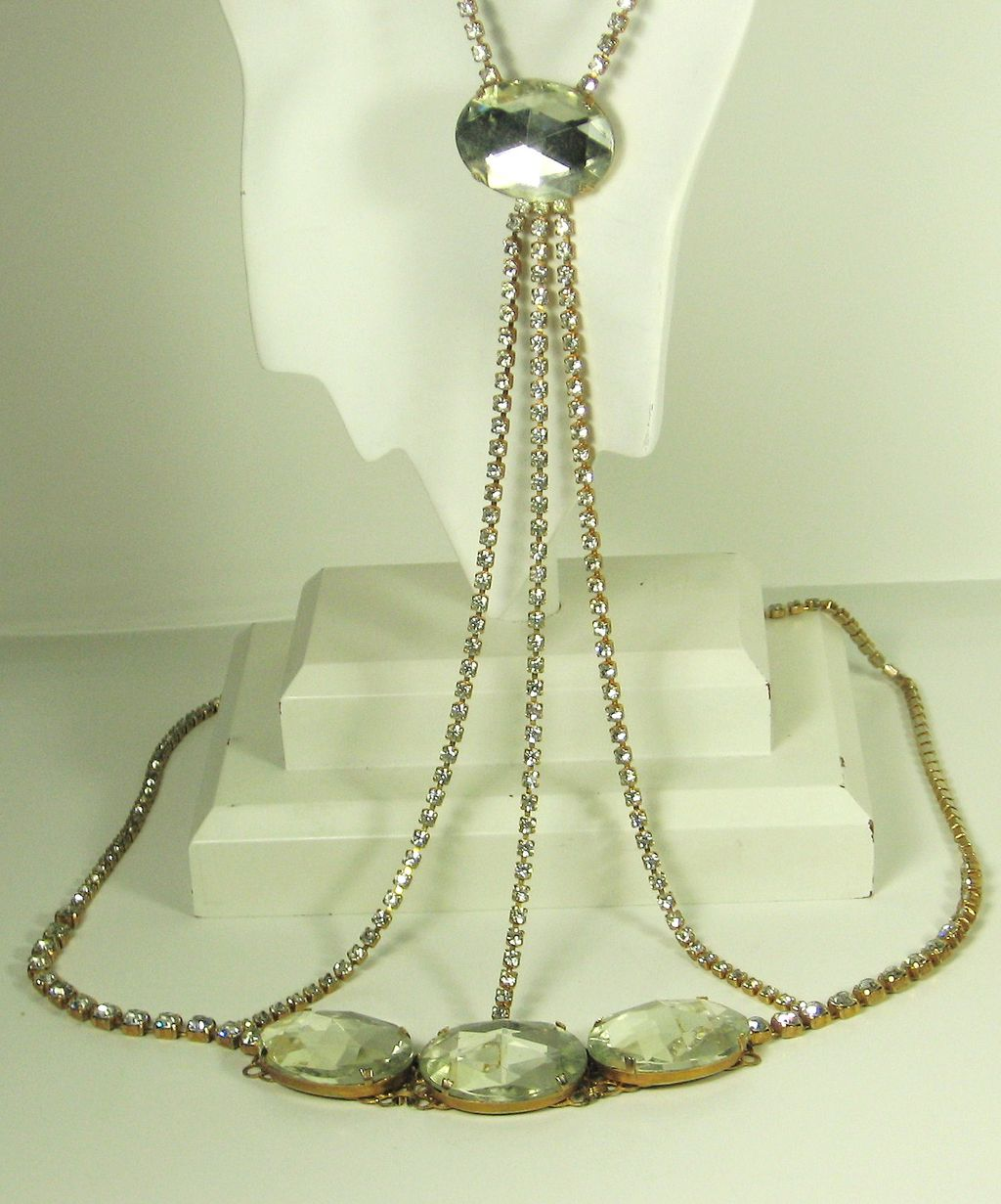 Hattie Carnegie Rhinestone and Faceted Glass Body Jewelry