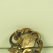 Antique Victorian Gold Tone Metal Mother Pin/Pendant