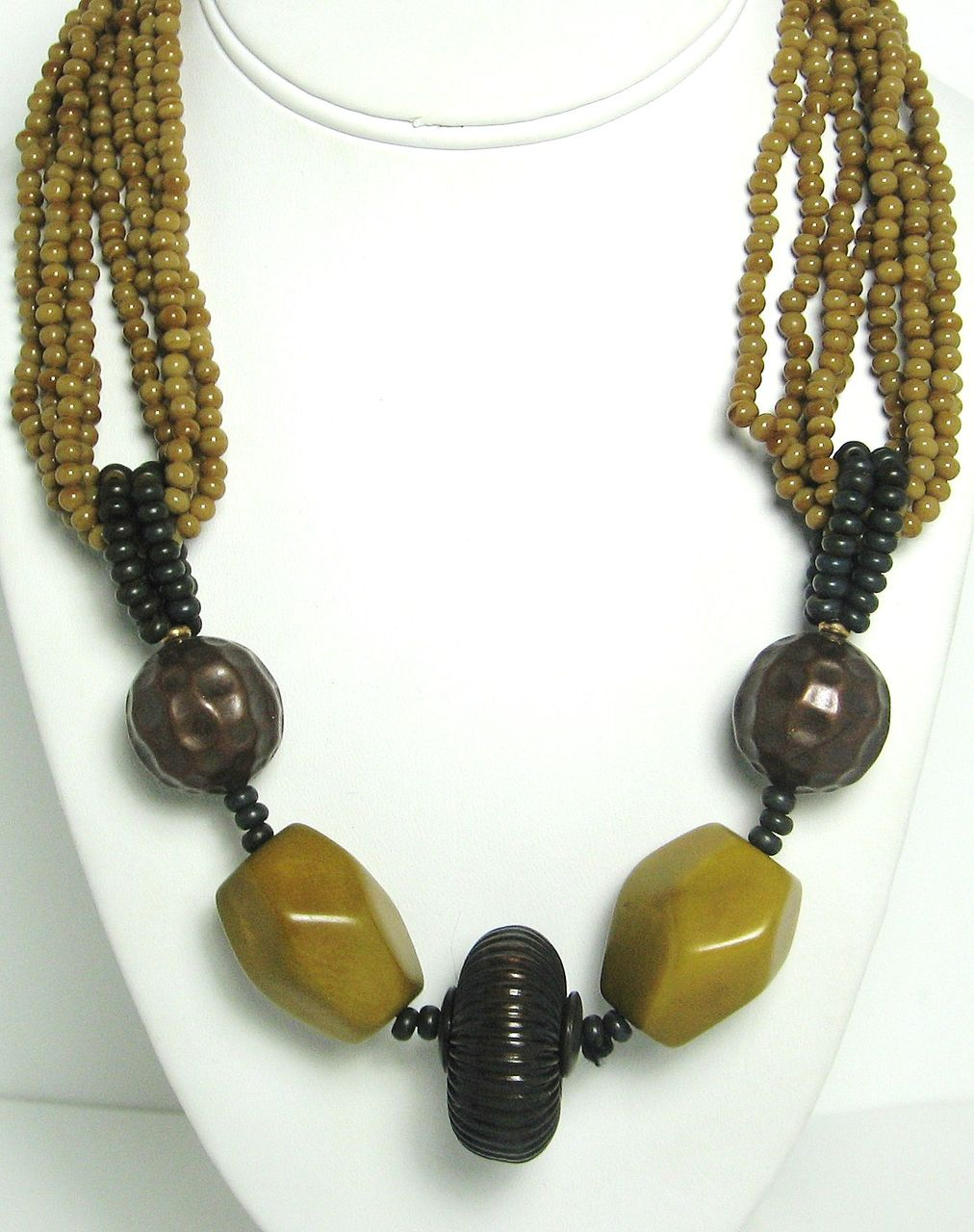 Four Strand Hattie Carnegie Glass Beaded Necklace
