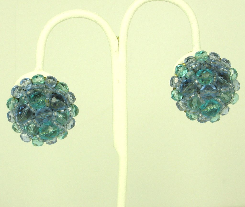 Coppola e Toppo Aquamarine and Blue Crystal Earrings