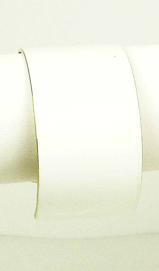 White Enamel Vendome Cuff Bracelet