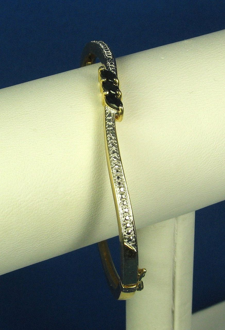925 Sterling and Sapphire Gemstone Bracelet