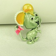 Vintage 1950s Har Enameled Mouse Pin