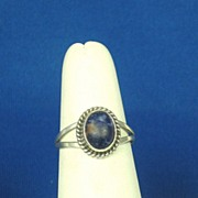 Vintage Nakai Navajo 925 Sterling and Lapis Ring