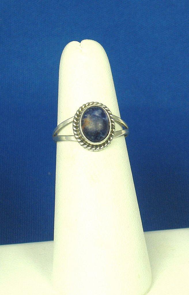 Vintage Nakai Navajo 925 Sterling and Lapis Ring