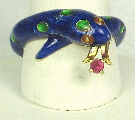Item ID: 2558- Martine Snake Ring In Shop Backroom