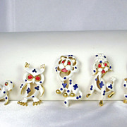 Trifari 1968 Enameled Precious Pet Series Pins