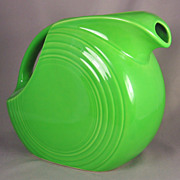 Vintage Homer Laughlin Chartreuse Fiestaware Disc Water Pitcher