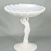 Pink Art Deco Nude Figural Lady Candy Dish