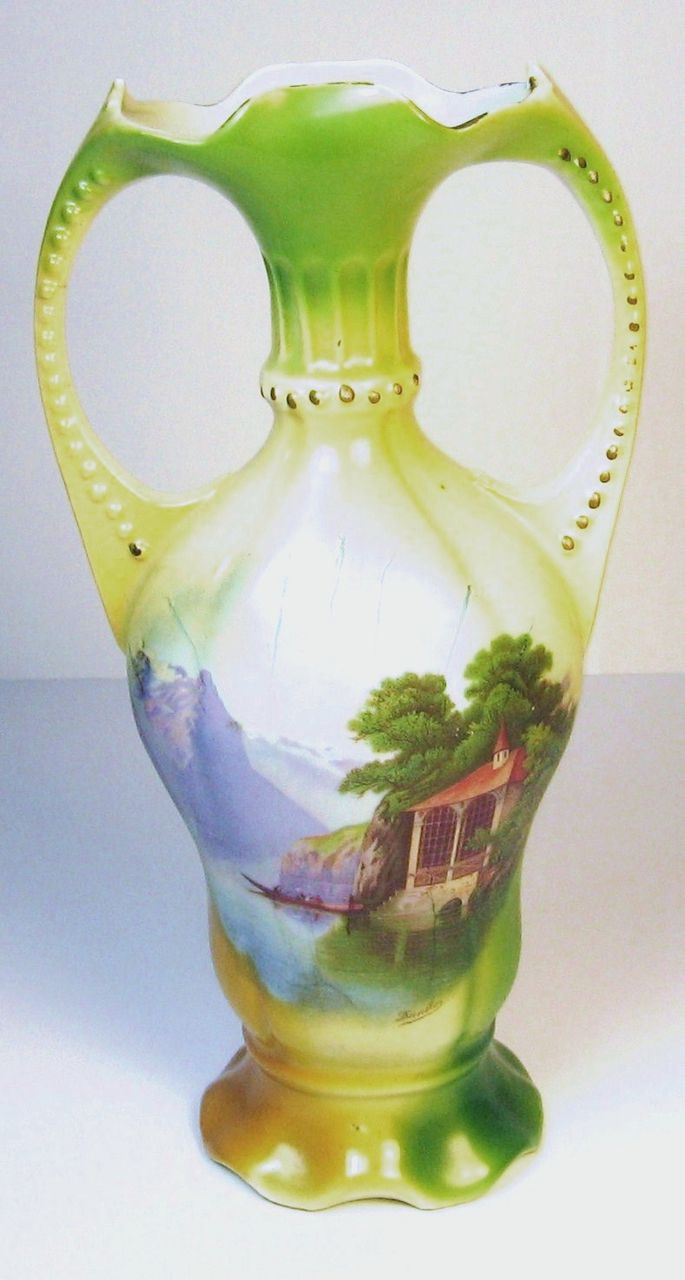 Hand Painted Danilo Porcelain Vase Made in Germany