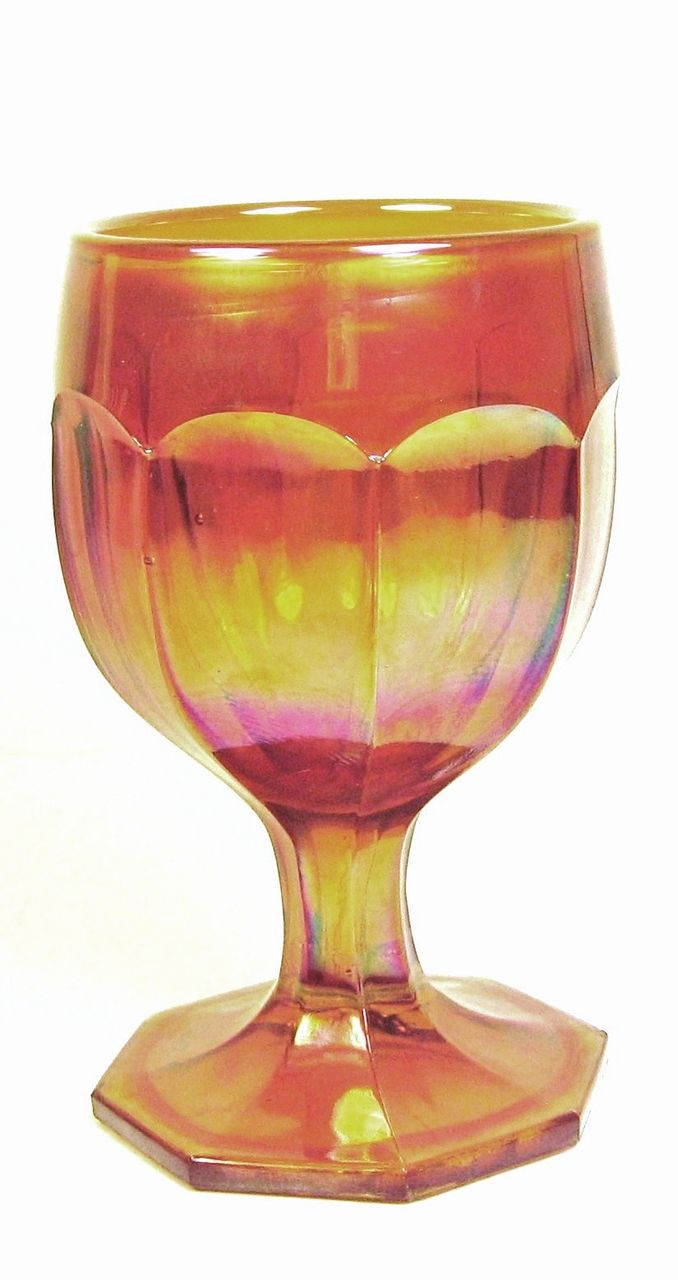 Beautiful Iridescent Carnival Glass Cup