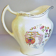 1940s Harker Floral Pattern Pottery Milk/Water Jug