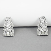 Vintage 1930s Rhinestone Dress Clips