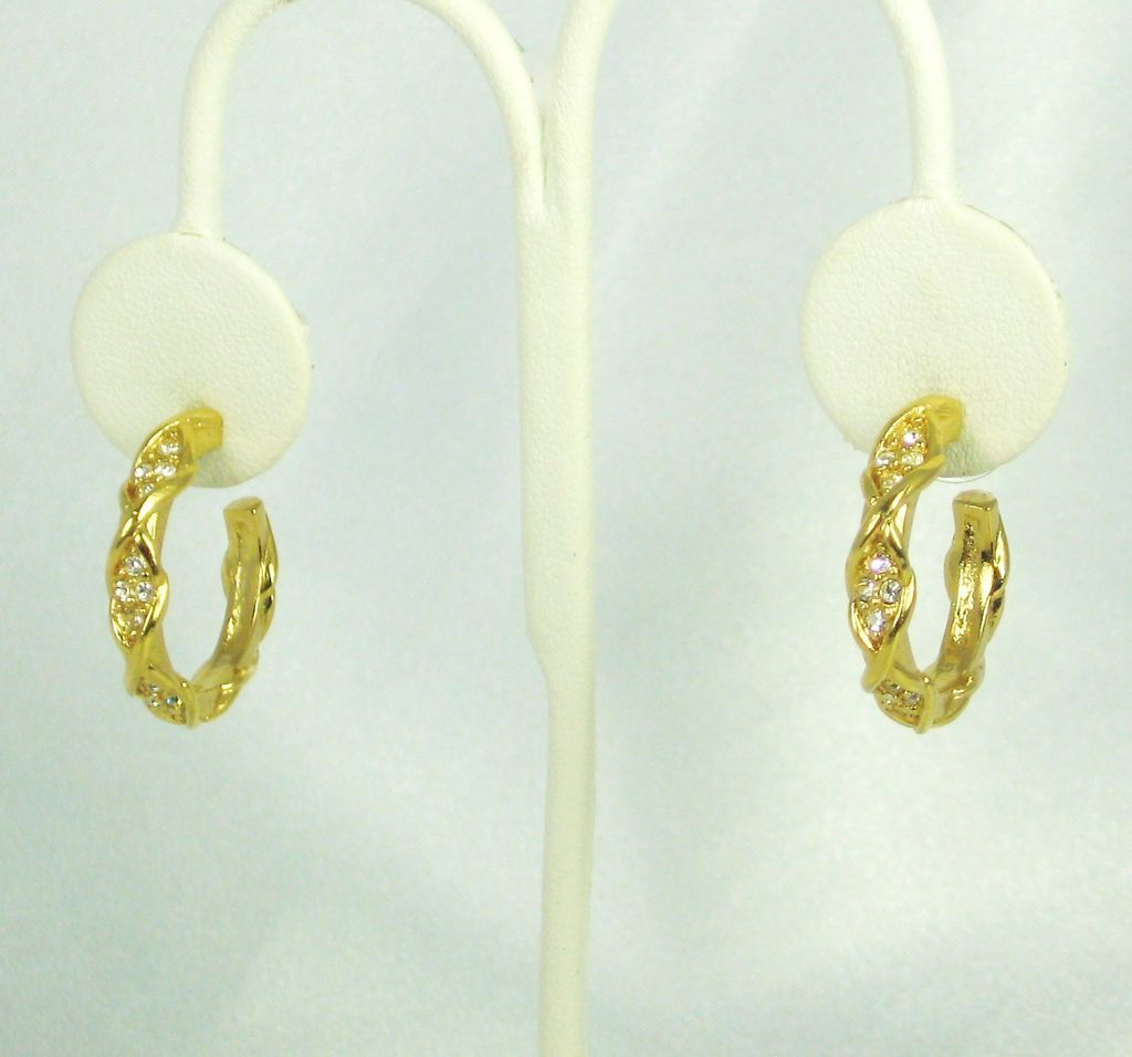 Elizabeth Taylor for Avon Brilliance Collection Hoop Earrings