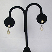 Vintage A & L Sterling and Cultured Pearl Screw Back Earrings