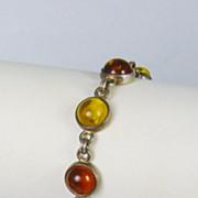 Vintage Amber Link Bracelet
