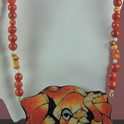 Karla Jordon Designer Coral Elephant with Imitation Pearls