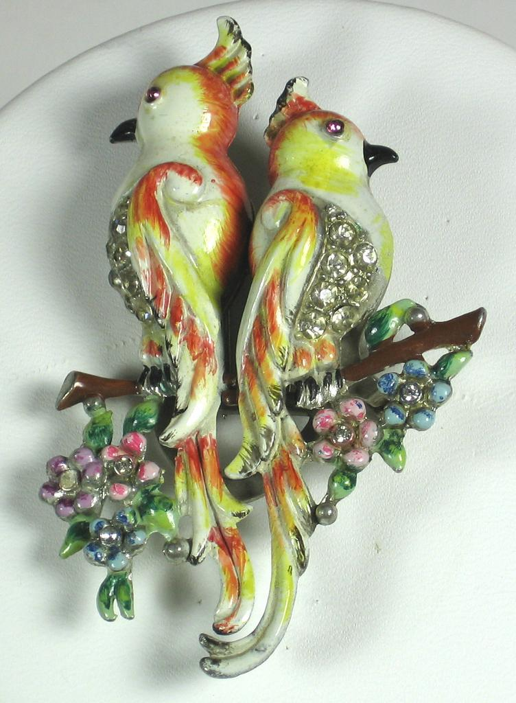 Vintage 1940s Coro Duette Bird of Paradise Pin