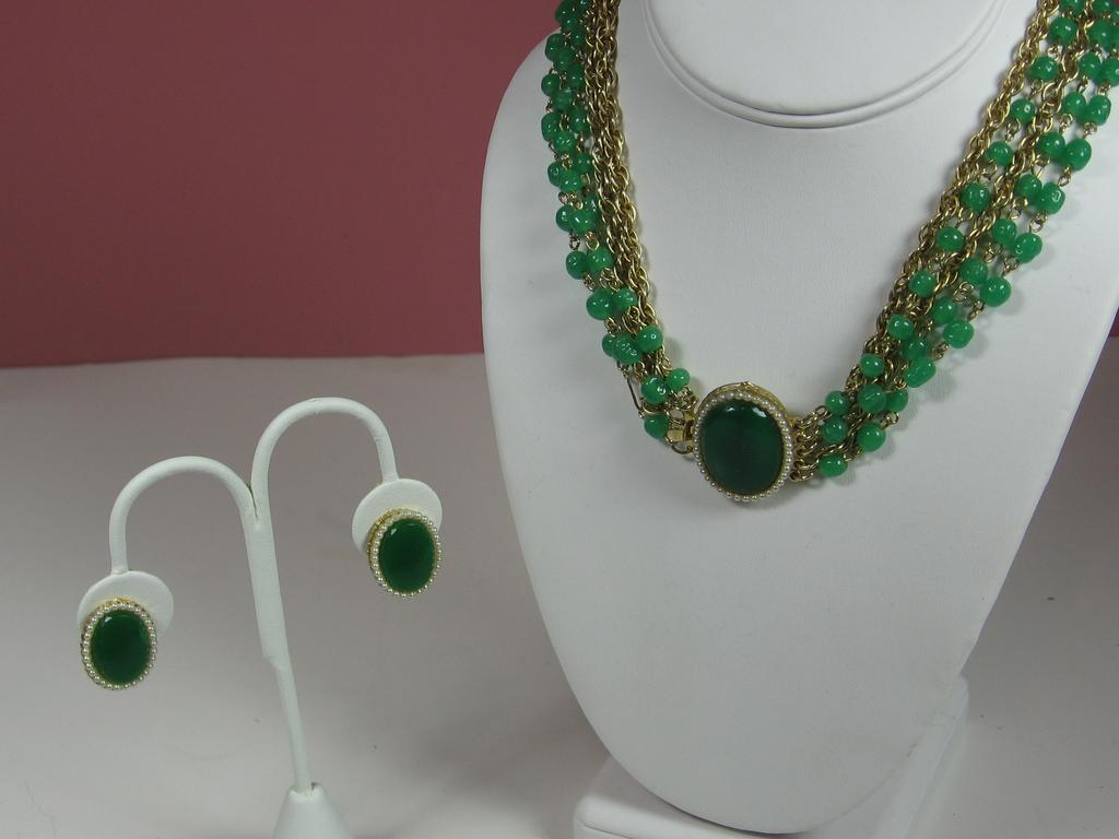 Vintage Hattie Carnegie Necklace and Earring Set