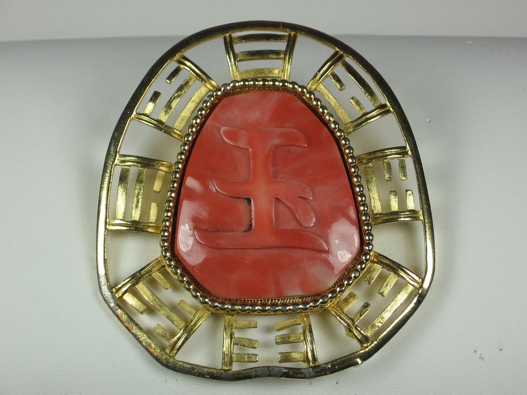 Hattie Carnegie Oriental Motif Pendant/Pin