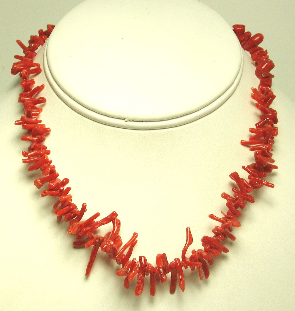 Vintage Genuine Coral Strand Necklace
