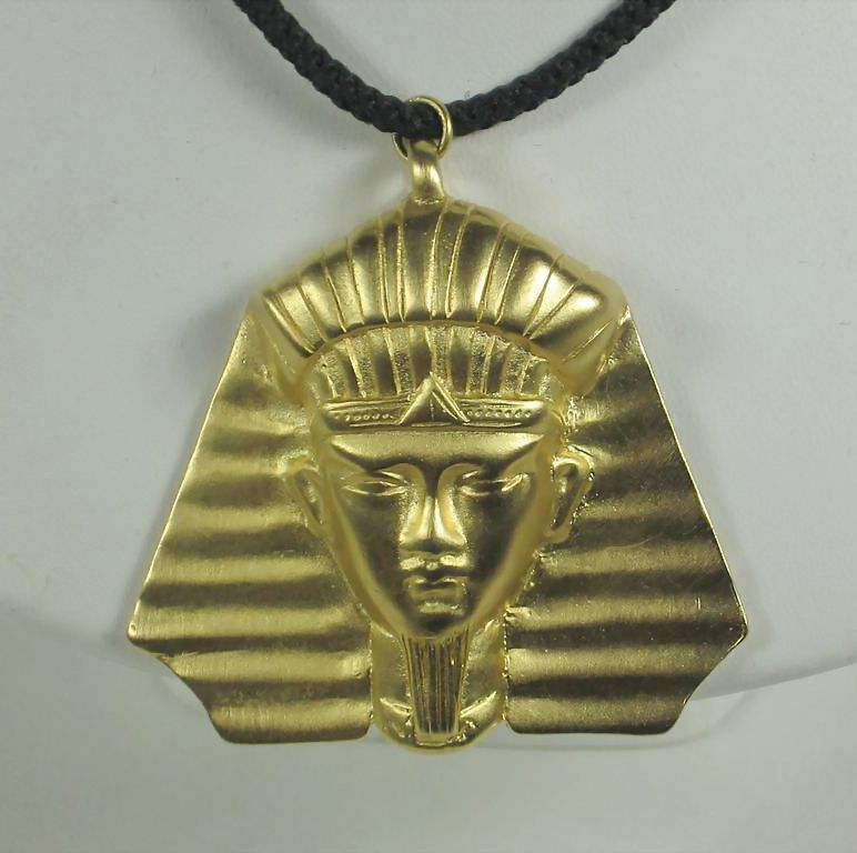 Hattie Carnegie Egyptian Pharaoh Pendant Necklace