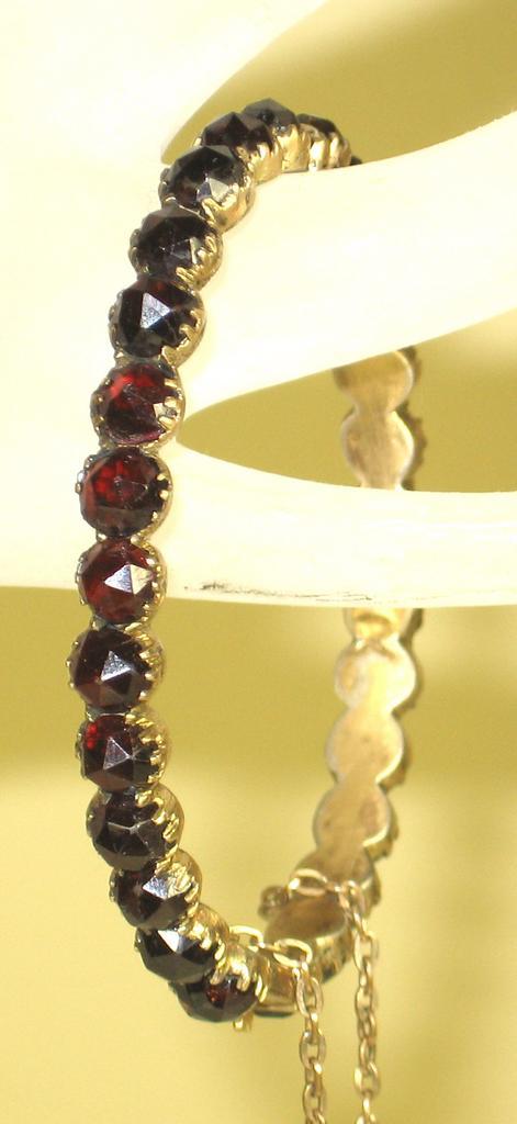 Item ID: 961- Bohemian Garnet Bracelet In Shop Backroom