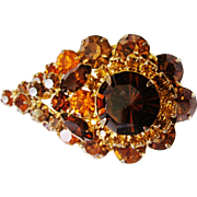 Verified D&E Juliana Topaz Rhinestone Brooch