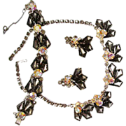 Verified D&E Juliana Frosted Rhinestone  Parure