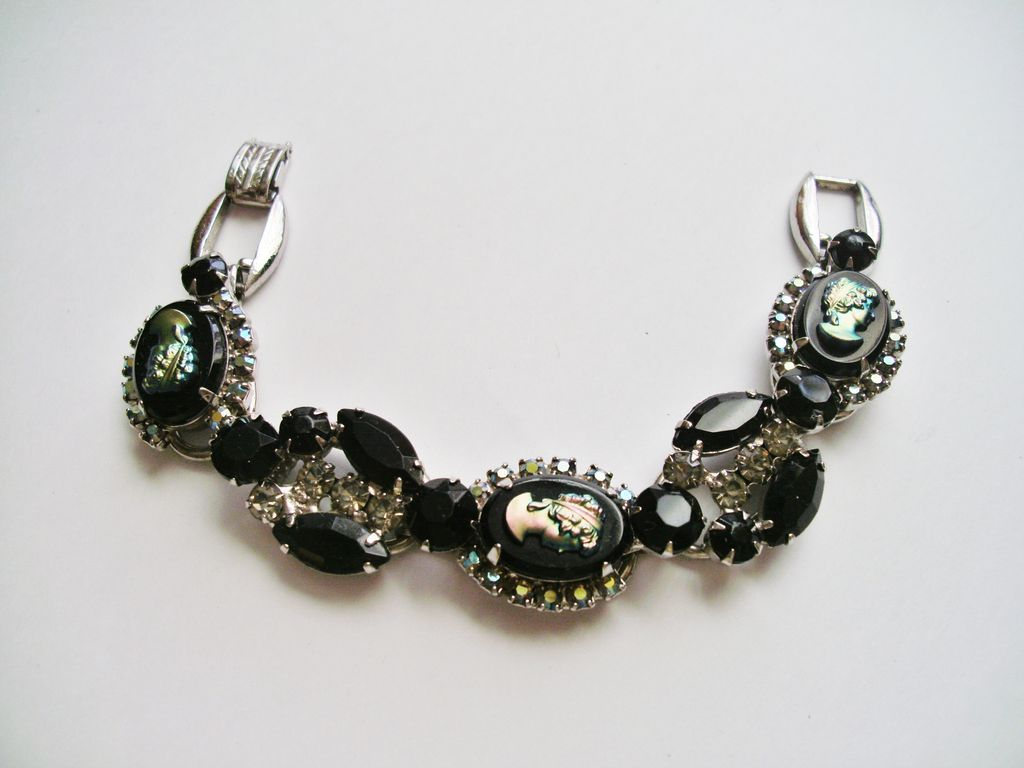 Verified D&E Juliana Black Rhinestone  Bracelet