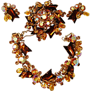 Verified D&E Juliana Topaz Color Beaded Parure