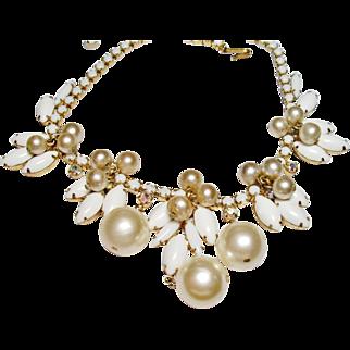 Verified D&E Juliana Chalk White Dangle Necklace