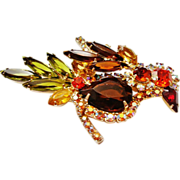 D&E Juliana Fall Color Bird Brooch