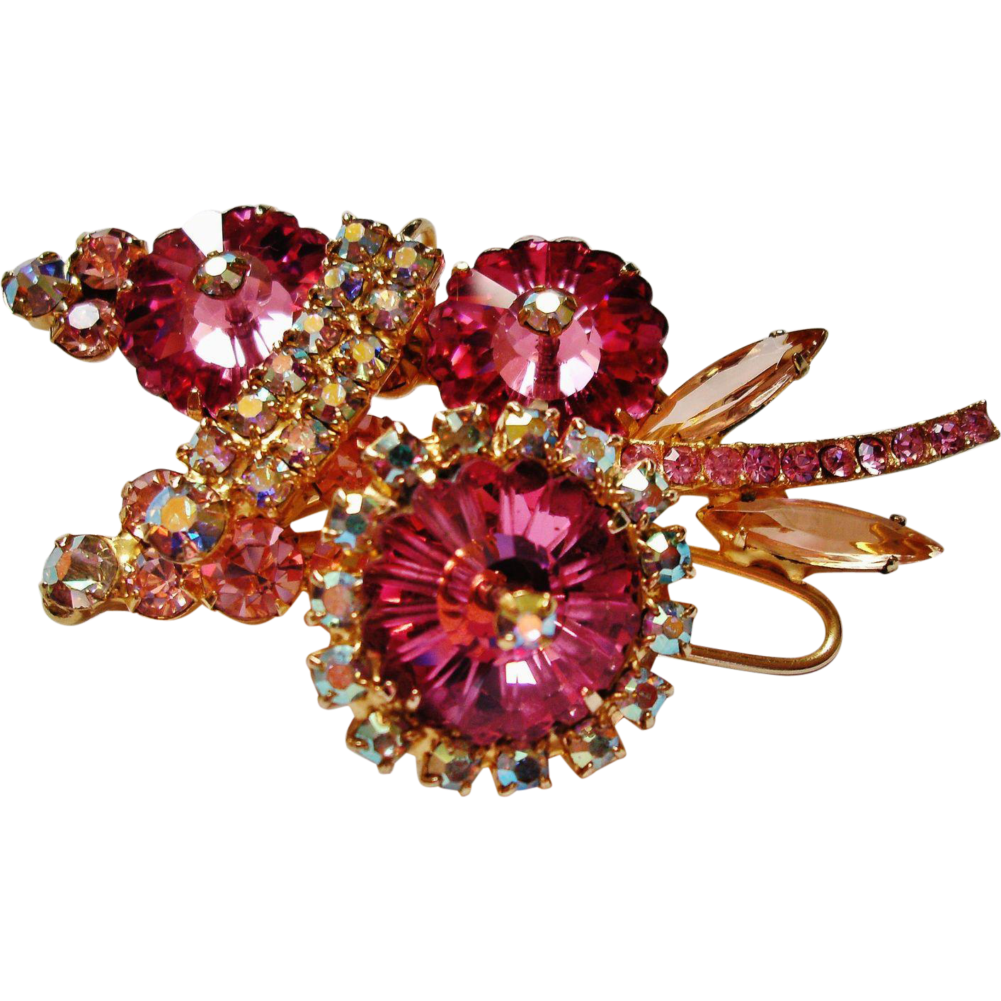 Verified D&E Juliana Pink Margarita Rivoli Brooch